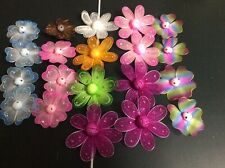 Lot of 20 Assorted Wired Fairy flower heads Styrofoam center No Stems New