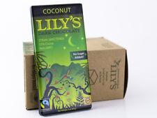 Lily's Sweets - Coconut Chocolate Bar 3 oz 1 Bar - Sugar Free 55% Dark Chocolate
