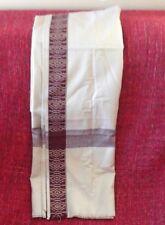 Large Shawl Scarf Pashmina Wrap Wool Blend Oriental Beige Red Burgundy