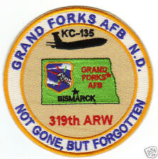 USAF BASE PATCH, GRAND FORKS AFB, N.D. 319TH ARW, NOT GONE, BUT FORGOTTEN      Y