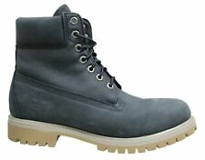 Timberland 6 Inch Premium Dark Grey Waterproof Leather Lace Up Mens Boots A1YPP