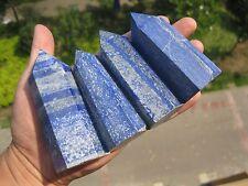 547g NATURAL PRETTY  LAPIS LAZULI crystal POINT   4  P037
