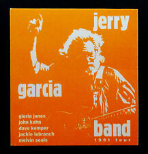 Jerry Garcia Band Backstage Pass 1991 JGB Tour Orange White J.G.B. Grateful Dead