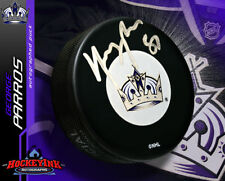 GEORGE PARROS Signed Los Angeles Kings Puck
