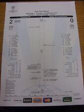 13/09/2011 Chelsea v Bayer Leverkusen [UEFA Champions League] Full Time Report,