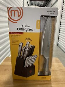 MasterChef Trophy Series 14 Piece Cutlery Knife Set New In Box Carbon Steel