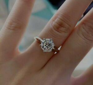 18K White Gold 3 CT Moissanite Engagement Ring