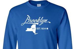 Brooklyn New York T-Shirt  Long Sleeve Graphic tee
