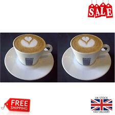 2 X Lavazza Americano Cappuccino Coffee Cups and Saucers Barista Pocelain Home