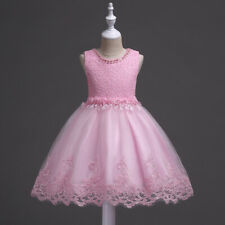 Flower Kids Girls Princess Tutu Dress Baby Party Wedding Bridesmaid Formal Gown
