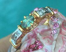 🌹Genuine Natural ALEXANDRITE COLOR CHANGE Diamond Wedding 14k gold RING sz 6.5