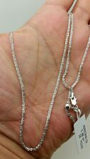 """925 Sterling Silver Solid Diamond Cut Sparkle Adjustable Chain Necklace 22"""""""