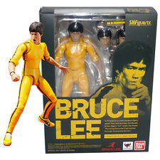 S.H.Figuarts Bruce Lee Yellow Track Suit Action Figure Toy Doll Bandai Kid Gift