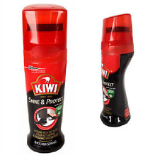 Kiwi colore liquido instant boot shoe shine cera polacco - 75ml-Nero-Gratis P&P