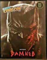 BATMAN DAMNED NYCC 2018 PROGRAM GUIDE NM DC BLACK LABEL BERMEJO COLLECTOR COVER