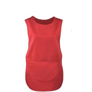 RED TABARD APRON • Rounded Pocket • Stud Fasteners, ON SALE BEST QUALITY