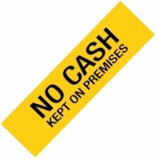 1 x APLI Sign Self Adhesive NO CASH Yellow Ref. A15101 - #A8