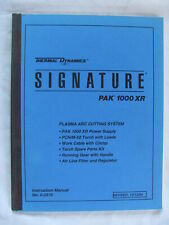 Thermal Dynamics Signature Pak 1000 Xr Plasma Arc Cutting System Manual