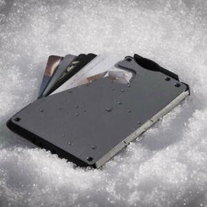 Quick Access Slim Wallet- 10 Wallet - Black Aluminum- 6-10 cards,it's not Fantom