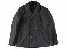 Next Men`s Wool Blend Short Coat Jackets Size Large Grey