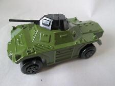 1973 Matchbox Rola-matics Military Green Weasel Scout Car #73 - Turquoise Base