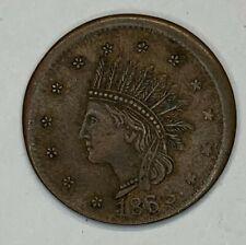 1863 Civil War Token Indian Not One Cent 68/360