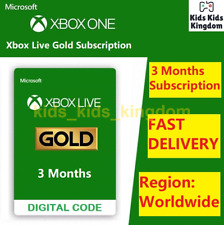 Xbox Live Gold 3 Months Membership Subscription - Xbox One, Global Fast Delivery