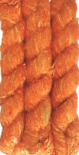 500g.Himalaya Recycled PURE SOFT Banana Silk Yarn Orange Color