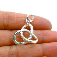 Celtic Love Knot Sterling 925 Silver Eternity Pendant