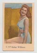 1957 VINTAGE DUTCH GUM S SET ESTHER WILLIAMS CARD #147 EXCELLENT CONDITION