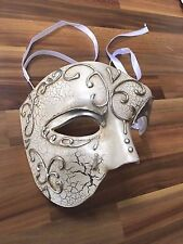 Mens Masquerade Mask Venetian Phantom Ball Prom Party Disco Cream Halloween WS1