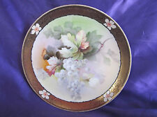 Antique O & EG Royal Austria Hand Painted Grapes Plate 9""
