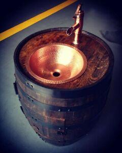 Bourbon Barrel Sink Handcrafted