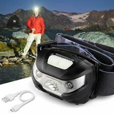 USB Super Bright Waterproof HEAD Torch Headlight LED Rechargeable Headlamp Fish