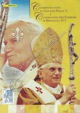 """Folder filatelico 117 - """"  Celebrazione di Giovanni Paolo II e Benedetto """" 2005"""
