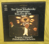The Great Tchaikovsky Symphonies Ormandy 4,5 and 6 3LP Box Set EX