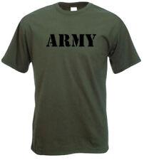 Camisetas de niño de 2 a 16 años verdes 100% algodón