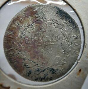 1821 Spain fernando VII SMR 4 Reales (10 Reales) Madrid Shipwreck Silver