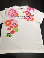 i Pinco Pallino White Flower T-Shirt Age 4