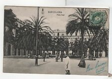 FC222 Plaza Real Barcelona Spain Vintage PC