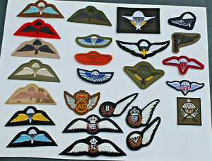 Parachute Wings - Brevets - British - French - Belgium - USAF - NZ - AUS - Patch