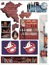 REPLACEMENT STICKER  LABEL SHEET VINTAGE KENNER THE REAL GHOSTBUSTERS FIRE HOUSE