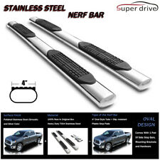 "Fits 2001-2019 GMC SIERRA CREW CAB 4"" OVAL CHROME SIDE STEPS NERF BAR BOARDS"