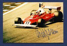 CLAY REGAZZONI  - Formula 1 - 4x6  color  print - SIGNED