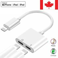 Dual Lightning Charging Adapter Splitter Audio Cable Double For i Phone 7,8,X,11