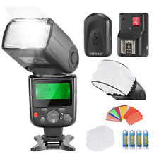 Speedlight f Canon+ Flash Trigger +35PCS Gel Filter +Diffuser &Cap +AA Batteries