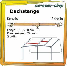 Dachauflagestange 22mm 115-200 cm, Zelt-Stange Zeltgestänge Zeltstangen Vorzelt