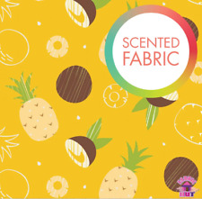 Camelot Fabrics Pineapple Coconut Print Scented Cotton Fabric by the Yard