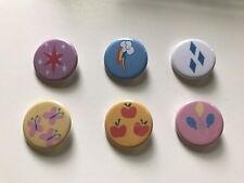 Set of 18 My Little Pony Friendship Is Magic Cutie Mark 1.25 in Button Pinback