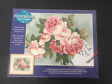 """Dimensions Paint Works Paint By Number Kit 14"""" X 11"""" Heirloom Pink Roses, flower"""